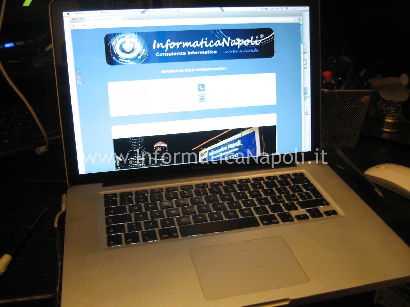 problema avvio Apple Mac book A1286 risolto