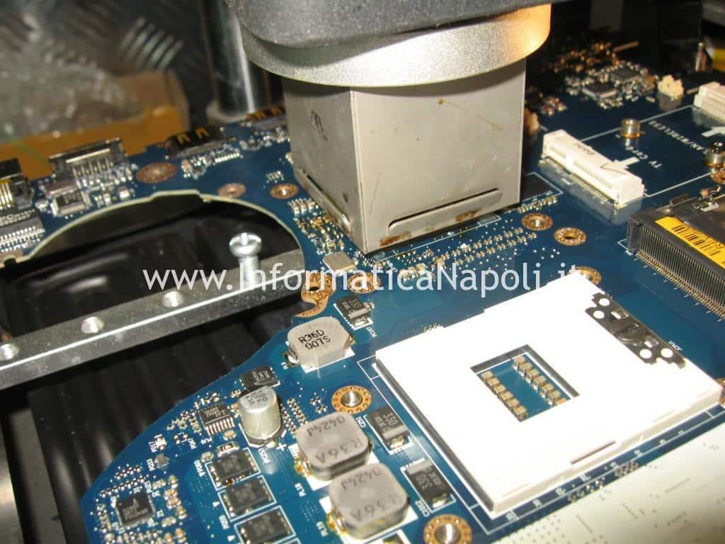 reballing rework reflow Dell Studio 17 1749 ATI radeon 4650