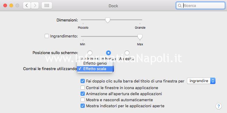 Come eliminare effetto genio sul Mac OS