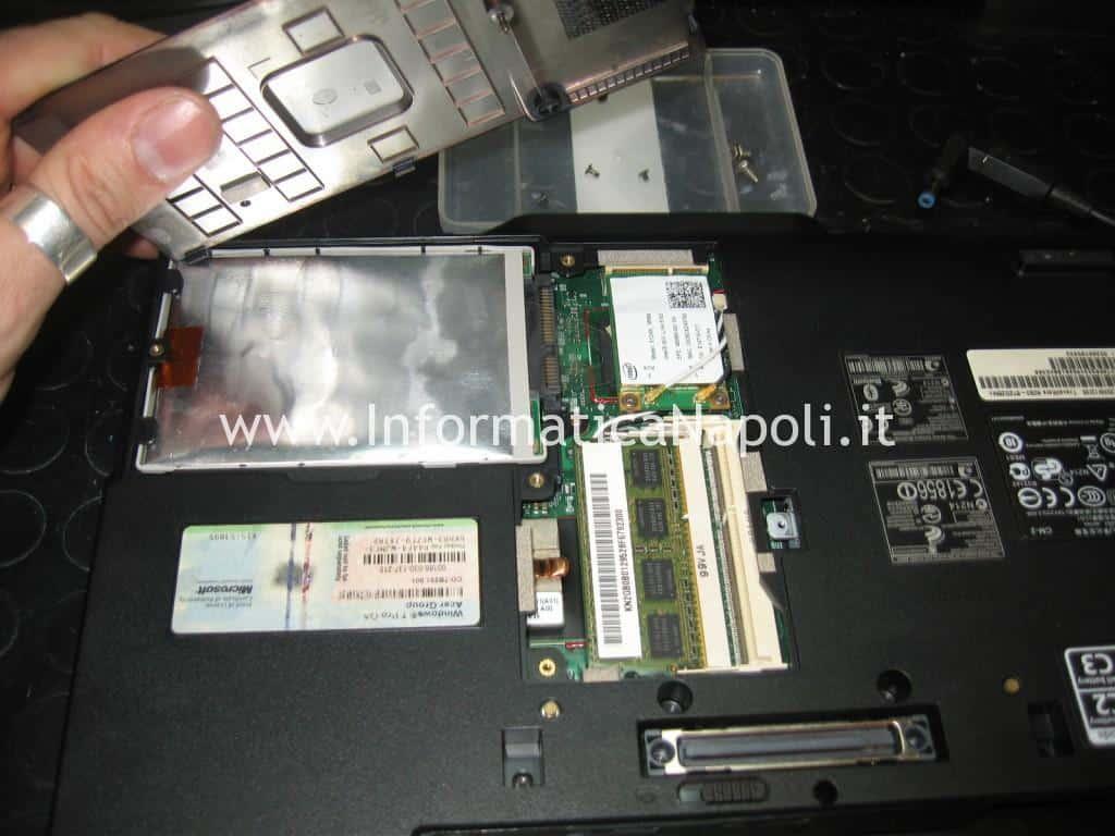 Acer TravelMate 6293 LG1 schermo nero