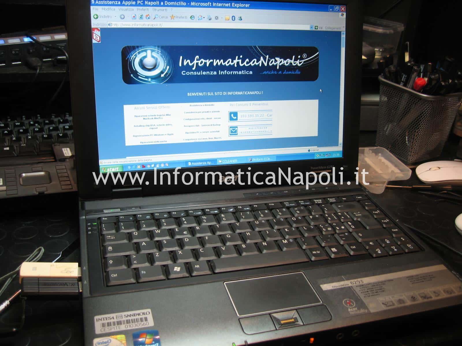 Assistenza Acer TravelMate 6293 napoli