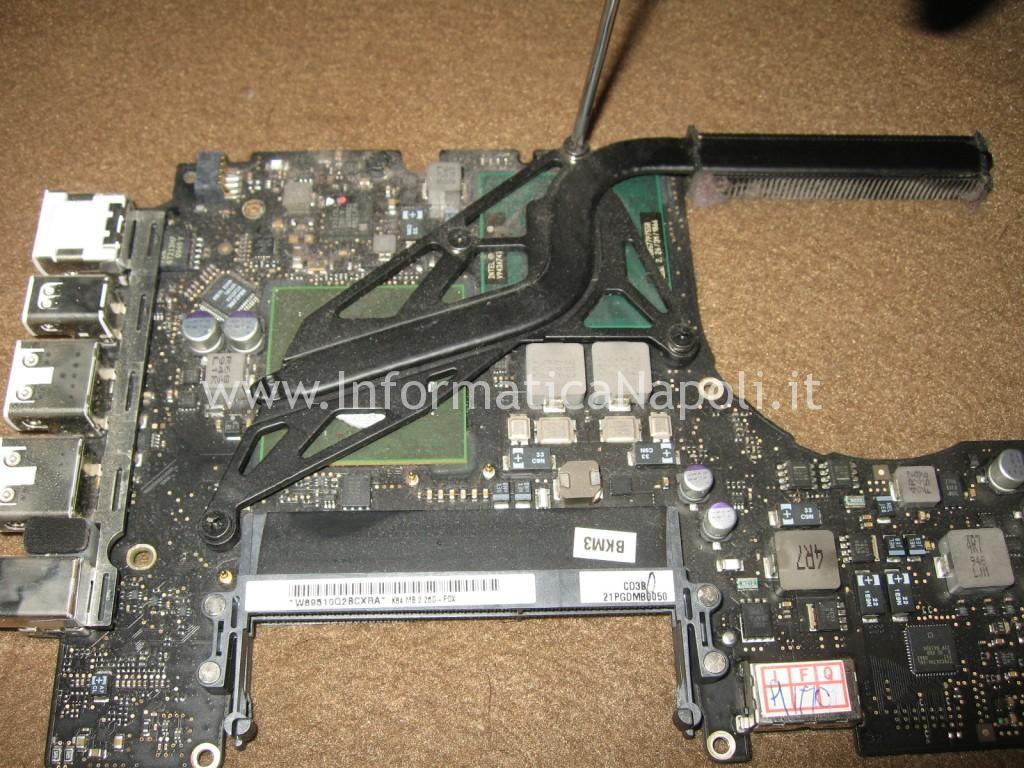 dissipatore nVidia GeForce 9400M Apple MacBook A1342 13.3 EMC 2350