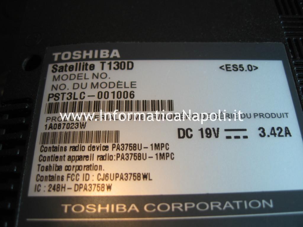 Toshiba Satellite T130D schermo nero