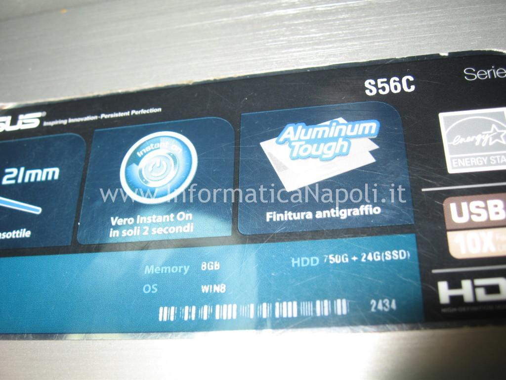 Asus S56C S56CB S56CB-XX173H non si avvia