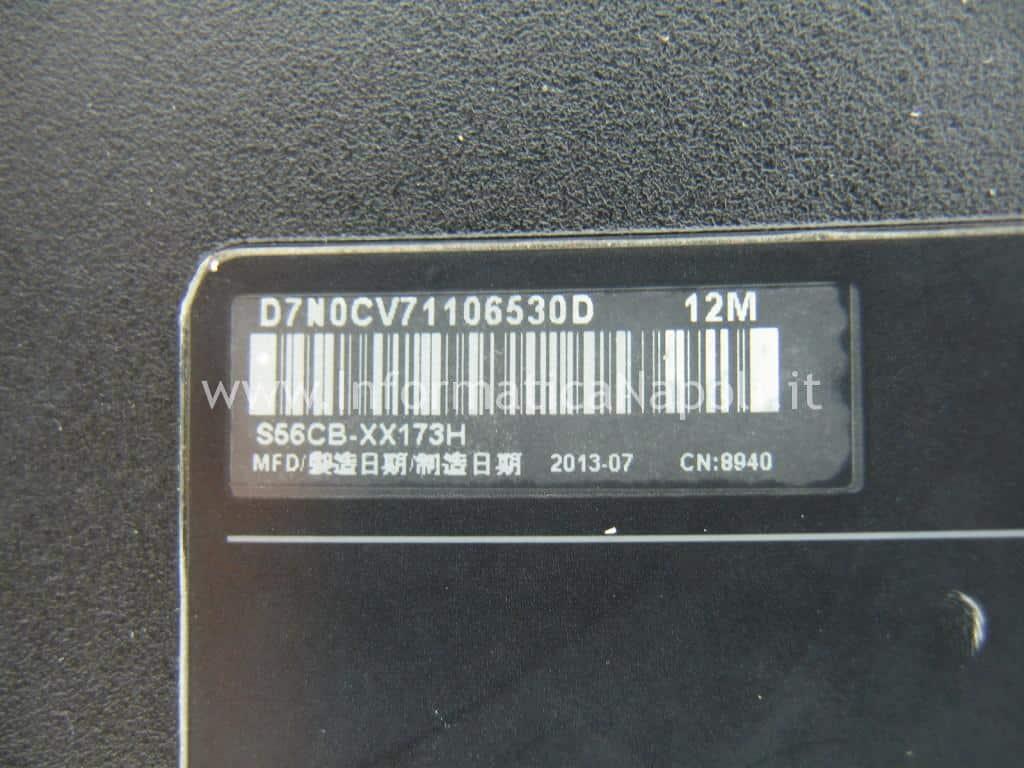 come riparo Asus S56C S56CB S56CB-XX173H