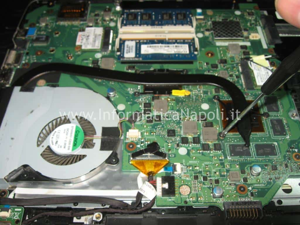 riparare scheda madre motherboard ASUS A56C K56CB A56CB XX174H