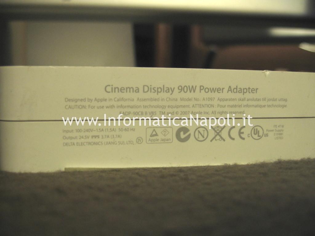 riparazione alimentatore A1097 Apple Cinema Display A1082 EMC 2010