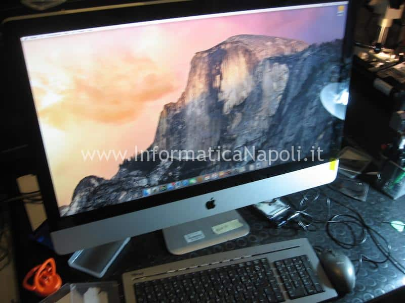 il connettore cavo video lvds apple imac è stato riparato