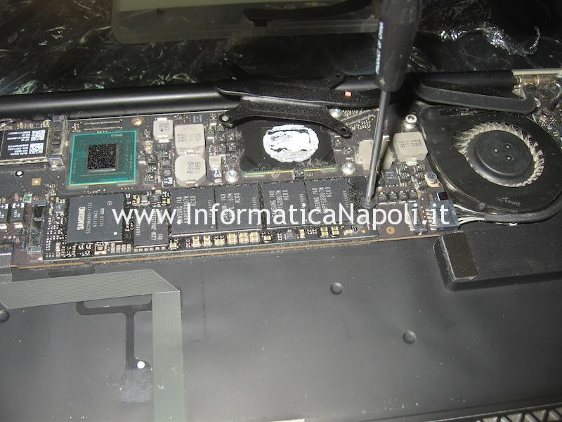 dissipatore GPU CPU SSD logic board Apple MacBook A1466