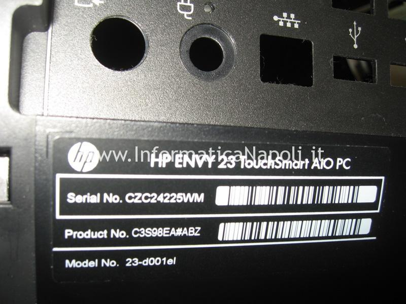 come riparare HP ENVY 23 TouchSmart AIO PC 23-d001el.
