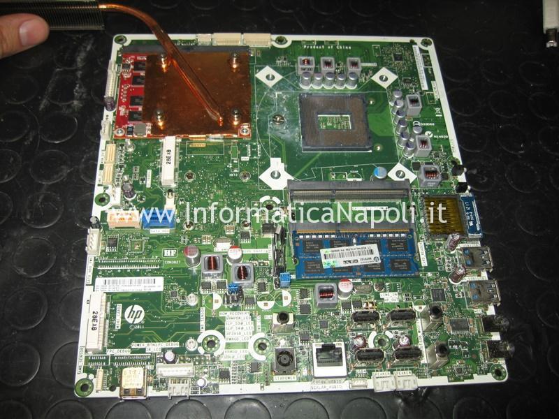 come riparare scheda madre HP ENVY 23 TouchSmart AIO PC 23-d001el 23-d018d