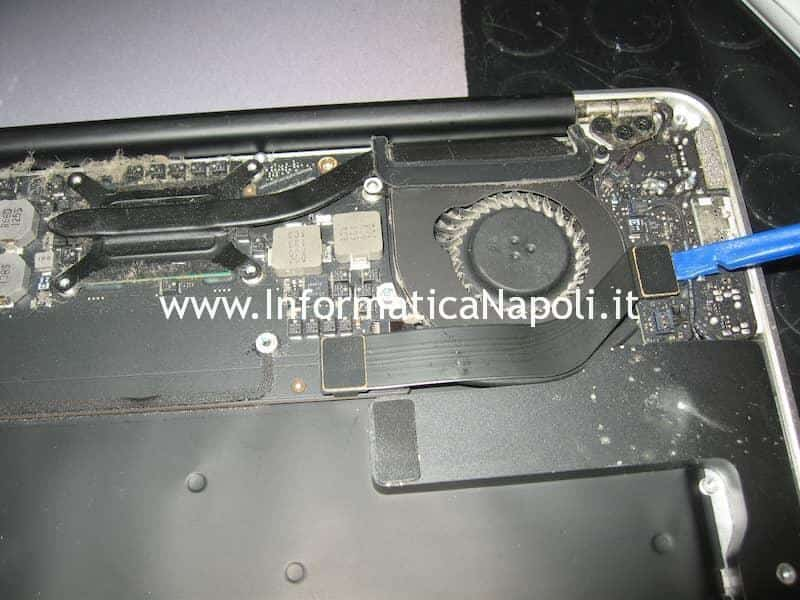 smontare ventola flat Apple MacBook Air 13 A1369 EMC 2469 mid 2011
