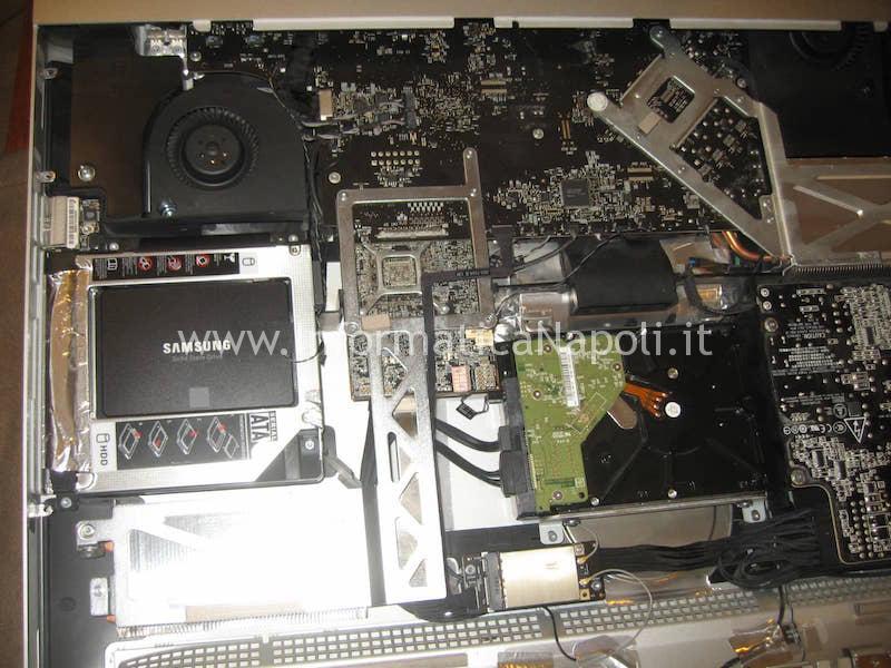 assistenza aggiornamento HDD con un SSD Apple imac 27