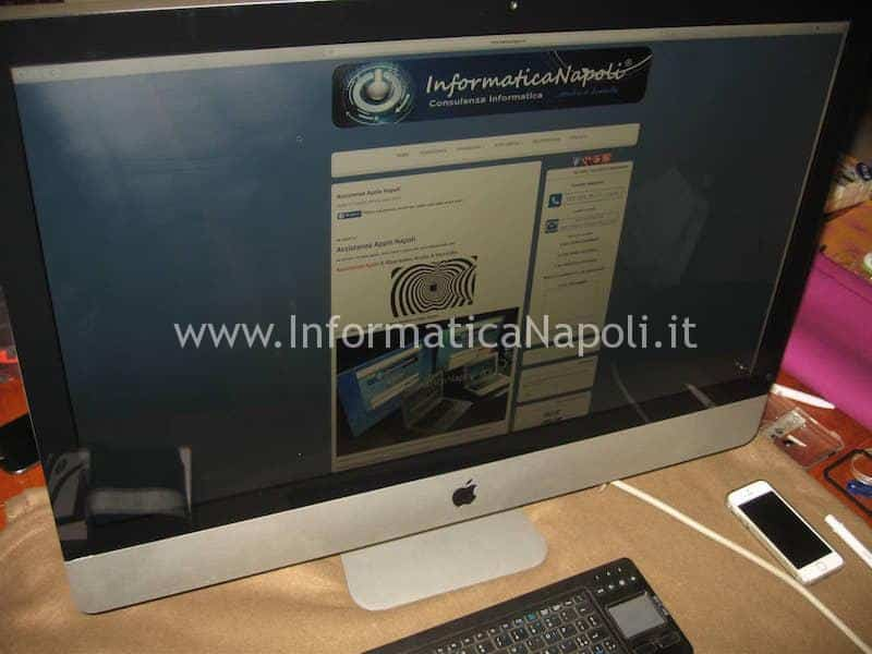 Installazione SSD su Apple Imac terminata