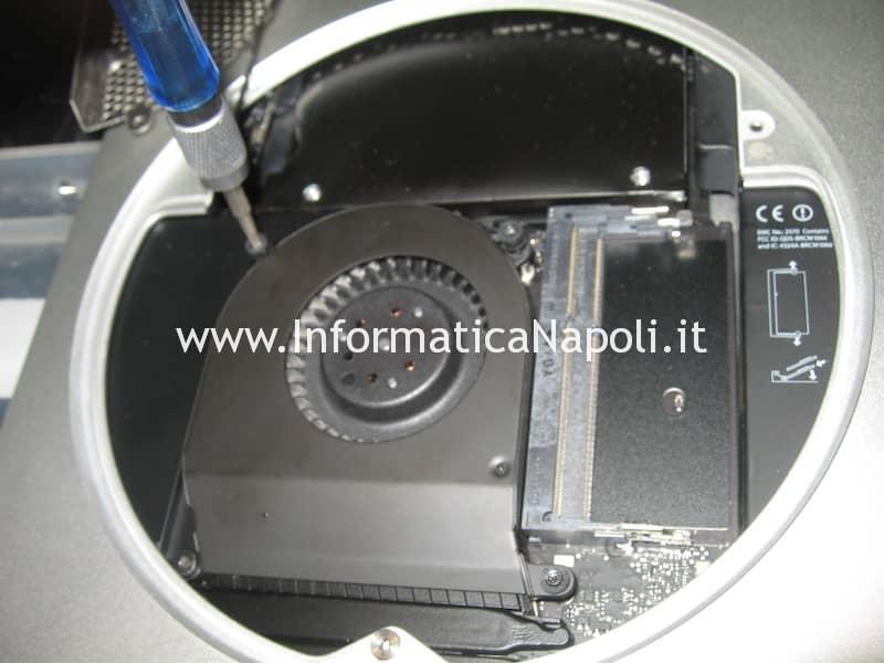 ventola fan Apple Mac Mini Mac A1347 Intel HD 4000 problema suono bong loop