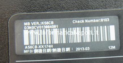 come riparare A56C K56CB A56CB XX174H