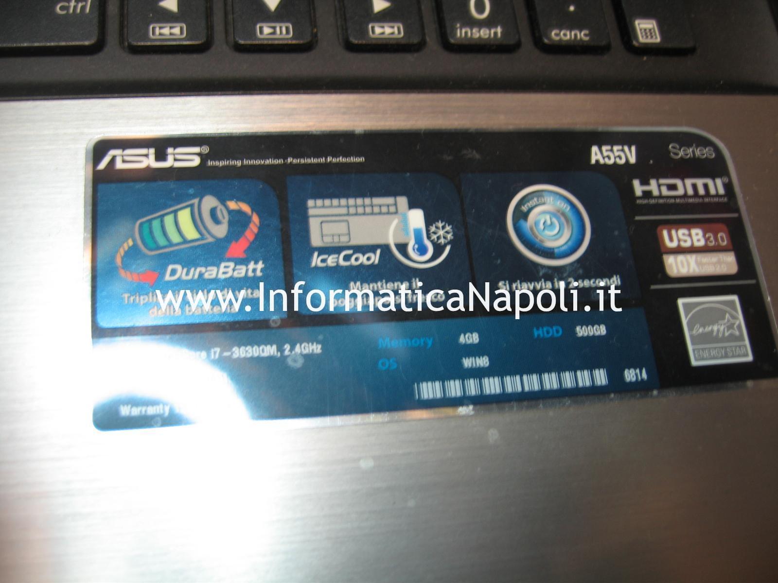 Problema schermo nero ASUS A55V K55VD A55VD SX400H