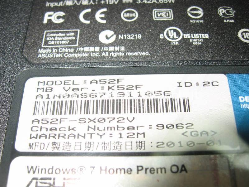problemi accensione Asus A52F k52F A52F-SX072V