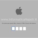 macbook bloccato rischiesta password EFI BIOS
