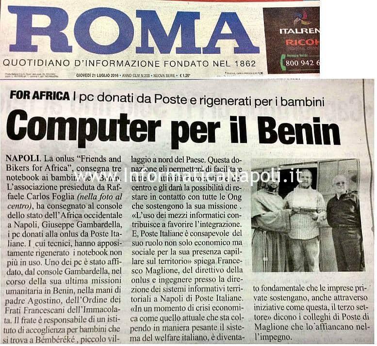 onlus articolo giornale roma