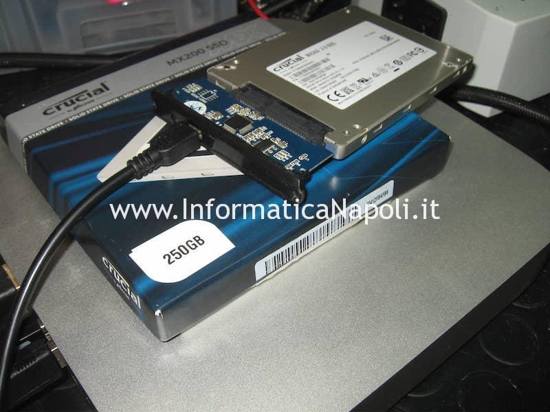 Clonazione SSD Mac Mini Upgrade doppio disco SSD A1347