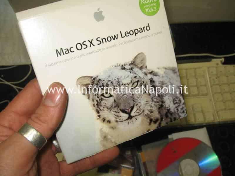 Installazione Mac OS X 10.6.8 snow leopard Mac 20 EMC 2105 vintage