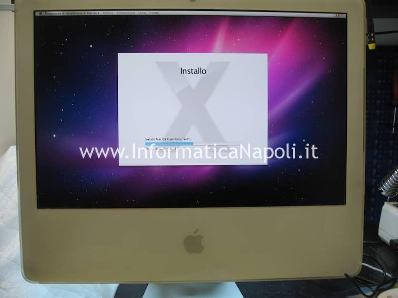 come formattare inizializzare SSD iMac 20
