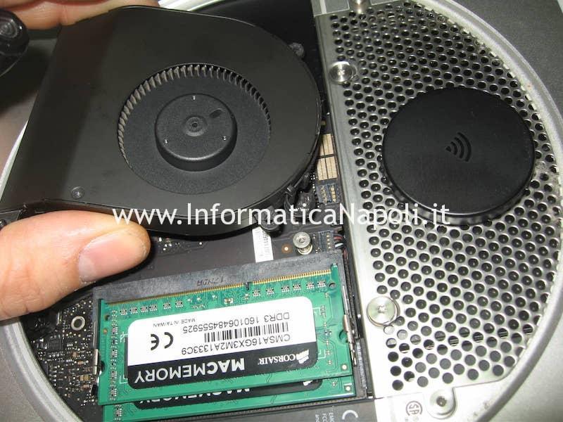 rimozione e pulizia ventola Apple Mac Mini A1347