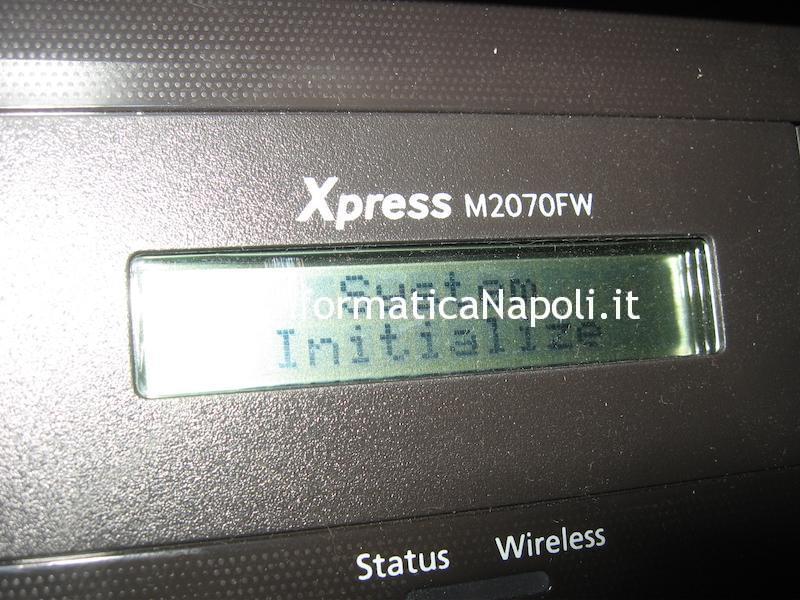 problema stampante samsung non funziona con toner non originali