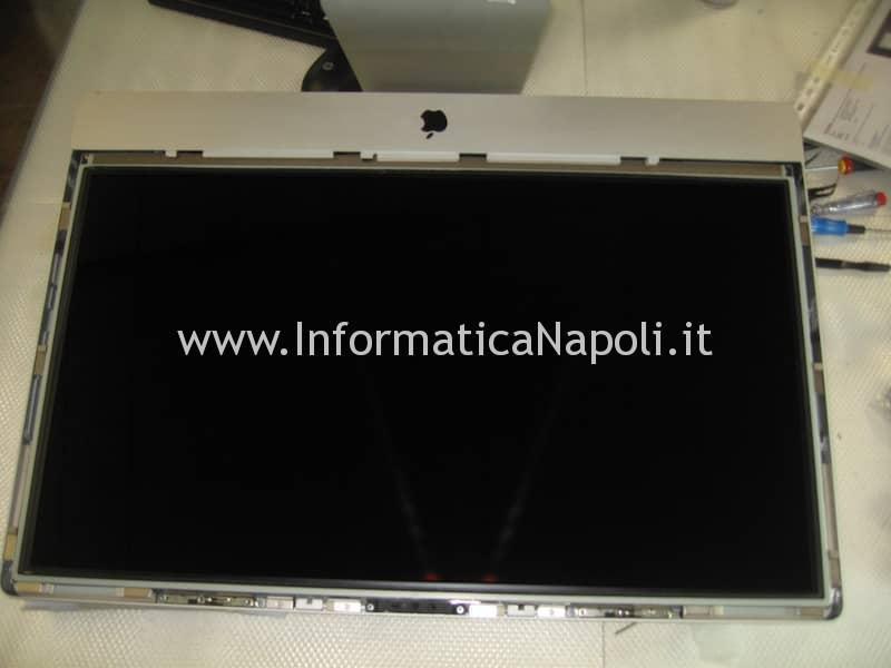 rimozione vetro display apple imac 27