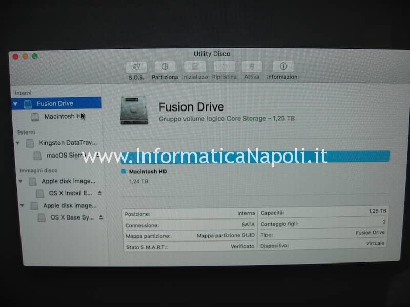 fusion drive creato su iMac 27