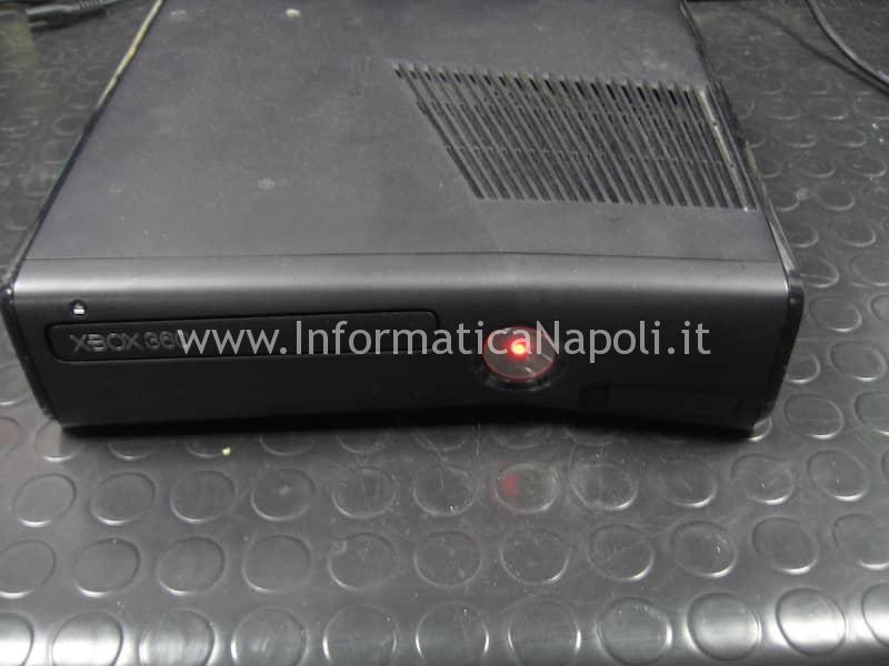 problema XBOX 360 slim 4gb led rosso
