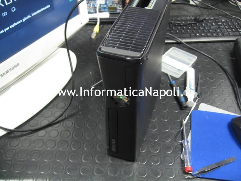 xbox 360 slim riparata funzionante assistenza a napoli