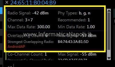 problema wifi canale potenza