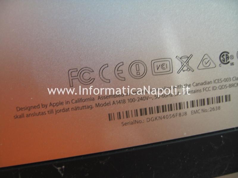 assistenza Upgrade SSD Apple iMac 21.5 slim A1418 2012 2013 2014 2015