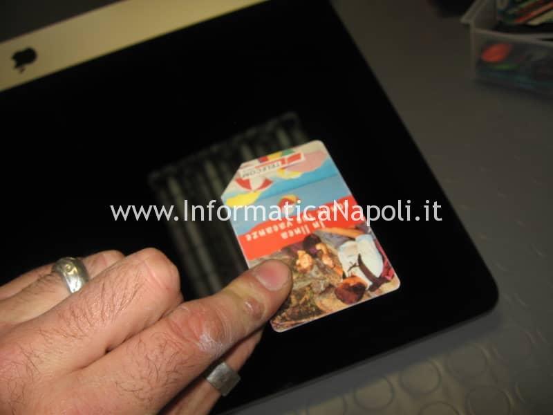 problema apertura come aprire Apple iMac 21.5 slim A1418 2012 2013 2014 2015