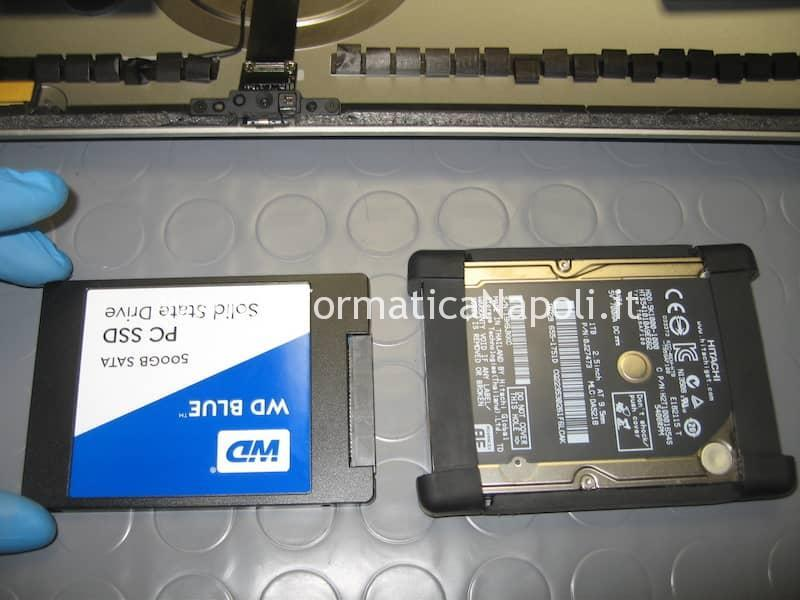 sostituzione HDD SSD Apple iMac 21.5 slim A1418 2012 2013 2014 2015