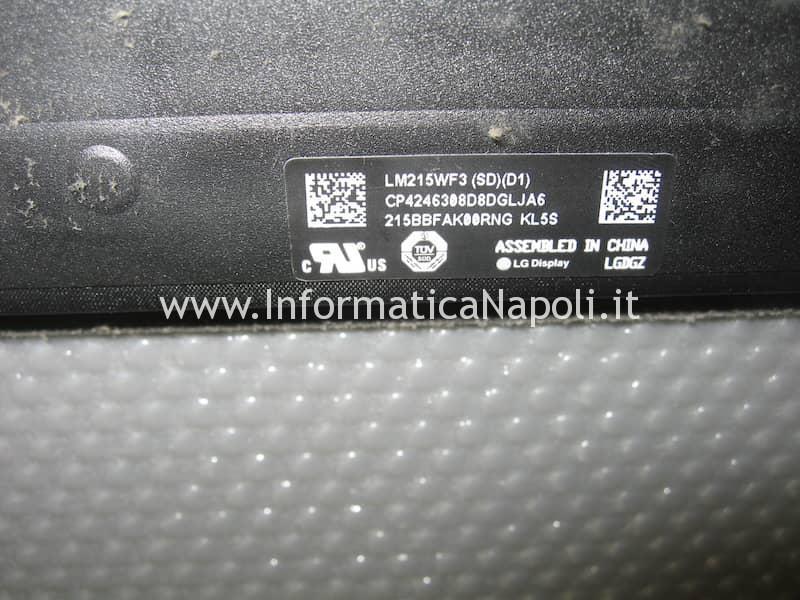 assistenza riparazione Apple imac A1418 LM215WF3