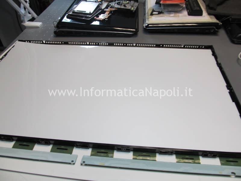riparazione e pulizia display Apple imac 27