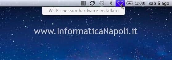 MACBOOK nessun hardware installato