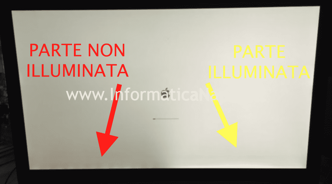 risolvere problema illuminazione backlight led display imac 27 pollici