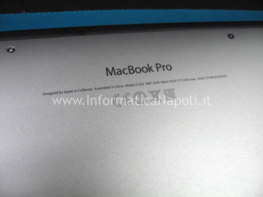 come riparare scheda logica Apple MacBook 13 retina A1502 A1425 2012 2013 2014 2015 scheda logica 820-3476-A EMC 2678 MX25L6406EZNI