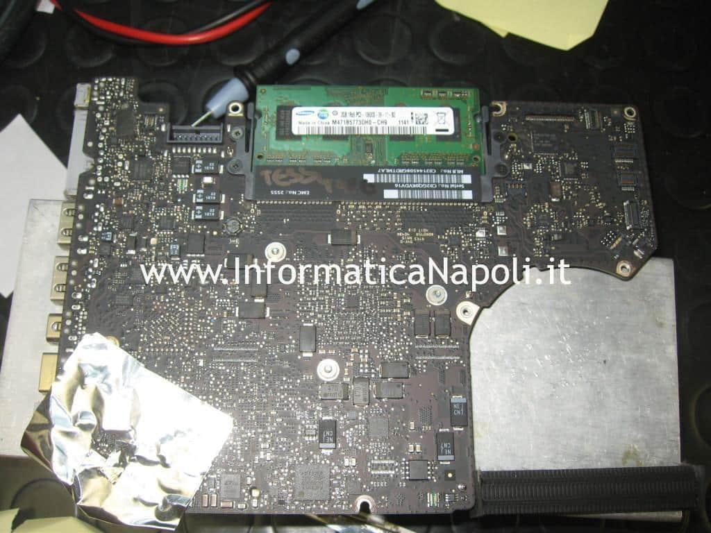 Risolvere e riparare schema elettrico riparazione scheda 820-3115-B a1278 macbook 13 schermo bianco