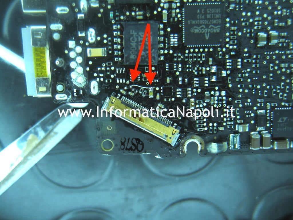 riparazione scheda logica a1278 macbook 13