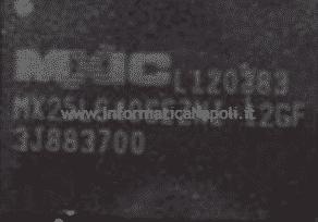 problema sostituzione programmazione efi MXIC MX25L6406EZNI MacBook 13 retina