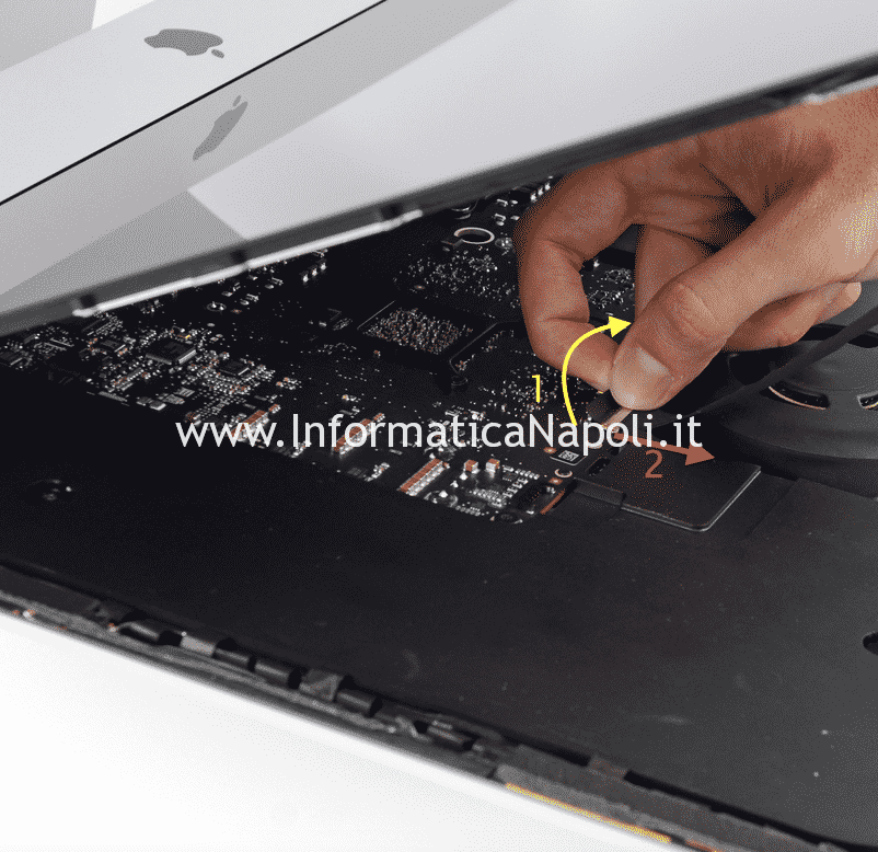 Apertura display iMac 27 slim