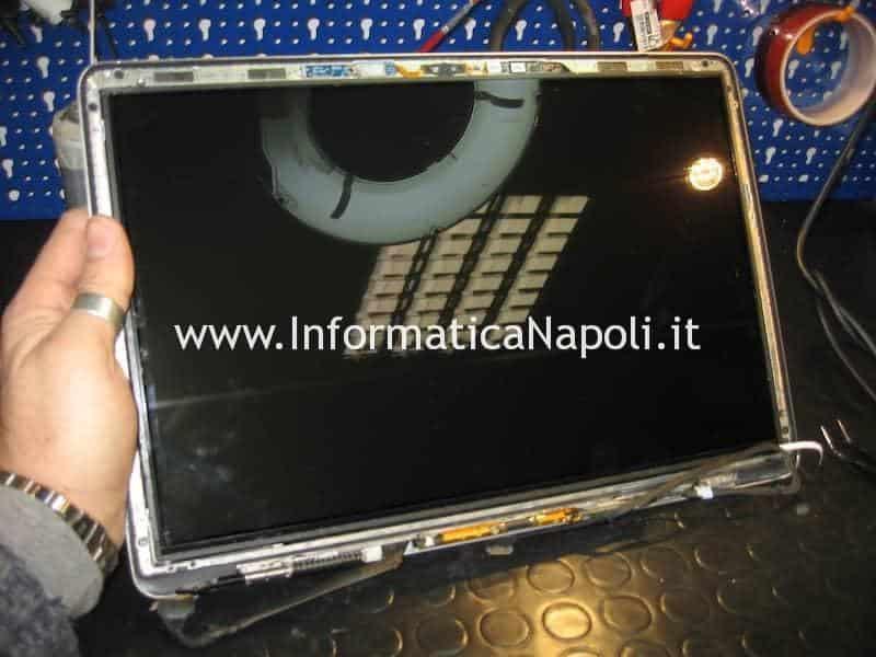 rimozione vetro pannello LCD LED macbook pro