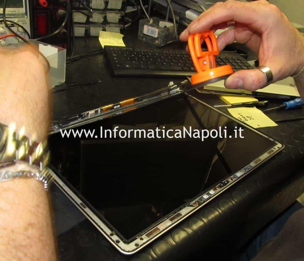 rimozione vetro macbook pro
