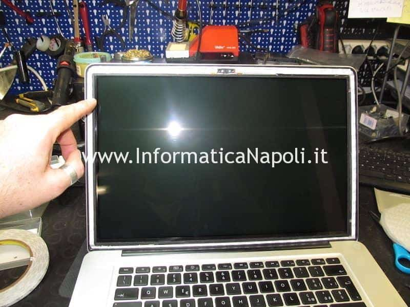 biadesivo vetro display macbook