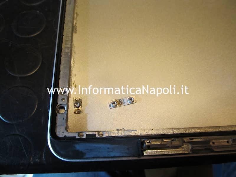 scocca alluminio danneggiata macbook pro